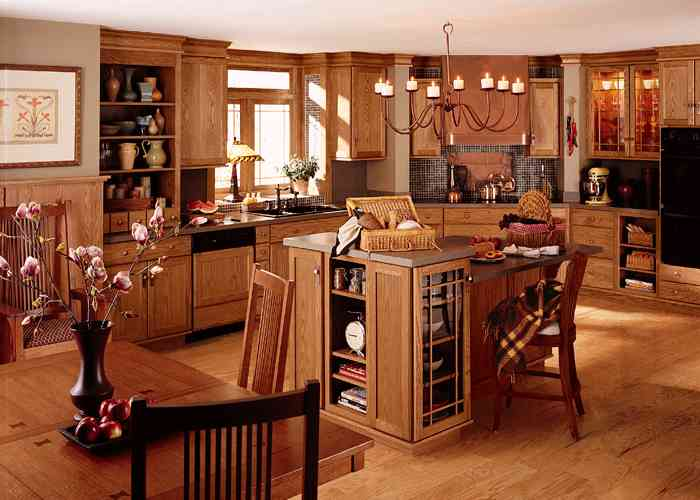 MDF Oak Veneer Kitchen Cabinetry